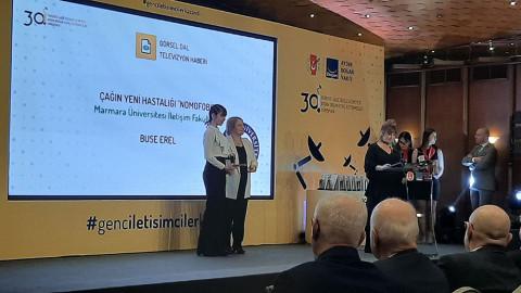 Öğrencimize 30. Genç İletişimciler Yarışmasında Birincilik Ödülü